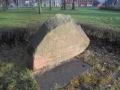Memorial stone in Rainis park