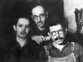 Liepaja-Shelter at the Sedols: Shmerl Skutelsky, Jose Mendelshtam, Misha Libauer