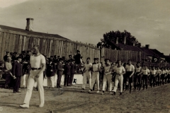 Inauguration of Makkabi Sports Field on 30 July 1925, Libau. Leo Schalit standing in centre marked X