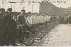 Maccabi Sports Club Libau, Cycling to Grobin, 16 May 1926. Leo Schalit front X