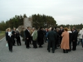 June 3, 2005.Dedication of the Memorial to the Jews of Liepaja- Holocaust victims in Shkede. 1941-1945